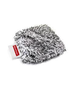 MAXSHINE Super Fluffy Microfiber Wash Mitt Black&White