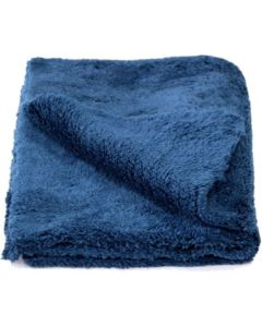 "Blue Edgeless Microfiber Towel 16""x16"" 600gsm"