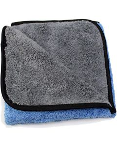 "MAXSHINE Blue & Gray Ultimate Crazy 2C Microfiber Towel 16""x16"" 600gsm"