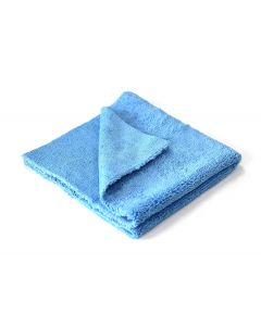 "Blue Edgeless Microfiber Towel 16""x16"" 380gsm"