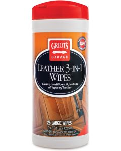 Griot's Garage Leather 3-in-1 Wipes Leather Care