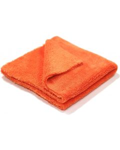 "Orange Edgeless Microfiber Towel 16""x16"" 500gsm"
