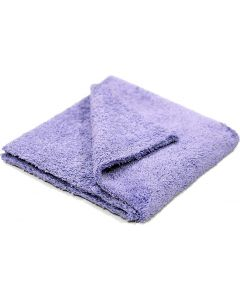 "Purple Edgeless Microfiber Towel 16""x16"" 600gsm"