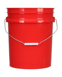Professional 5 Gallon Wash Bucket - Red